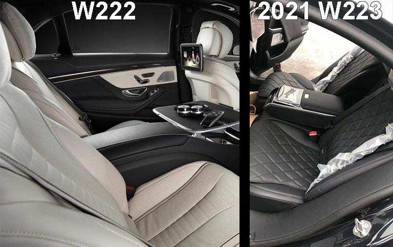 2021 Mercedes-Benz S-class W223 vs W222 back seat comparison