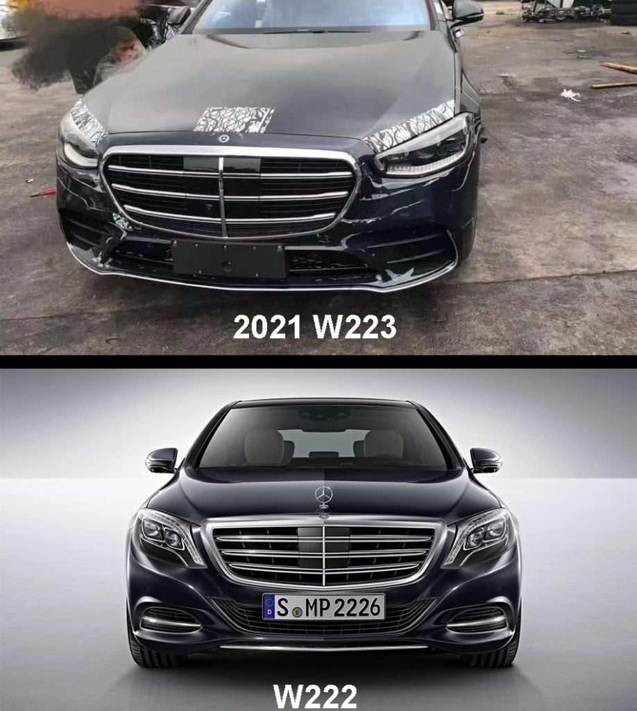 2021 Mercedes-Benz W223 vs W222 Front comparison