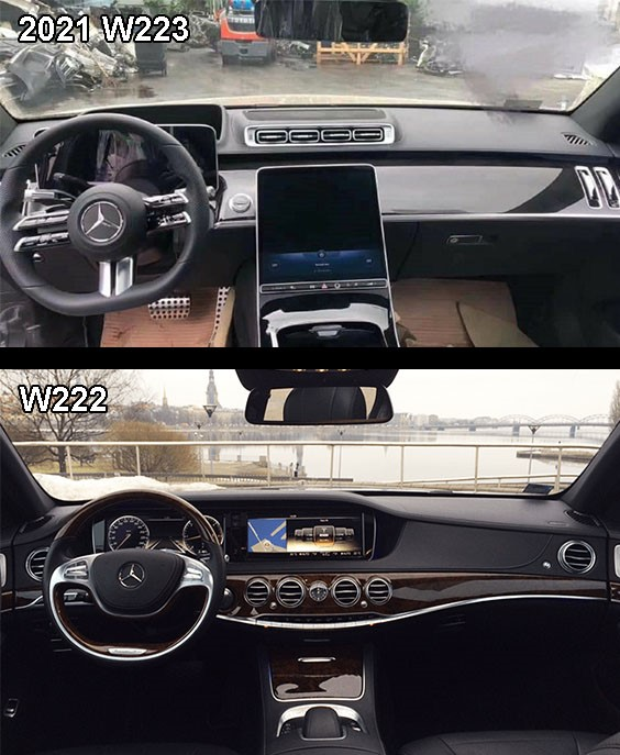 2021 Mercedes-Benz S-class W223 vs W222 Interior comparison