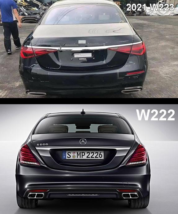 2021 Mercedes-Benz S-class W223 vs W222 Rear comparison